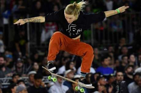 Candy Jacobs: britânica do skate está fora dos Jogos Olímpicos (Foto: AFP/Nelson Almeida)