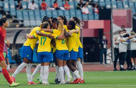 A transmissão da Olimpíada de Tóquio começou nesta quarta-feira com a goleada da Seleção Brasileira de futebol feminino sobre a China (Foto: Sam Robles/CBF)