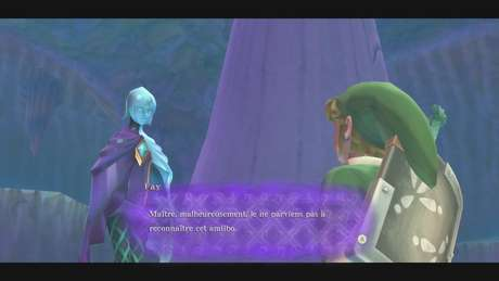Ao usar um Amiibo que não Zelda & Loftwing, Fi dá uma mensagem de erro