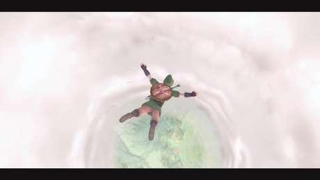Link salta para a aventura em Skyward Sword HD