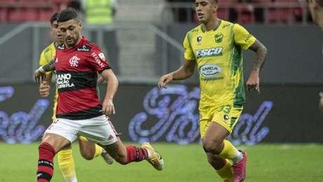 Arrascaeta marcou o segundo gol do Flamengo na goleada diante do Defensa (Foto: Alexandre Vidal / Flamengo)