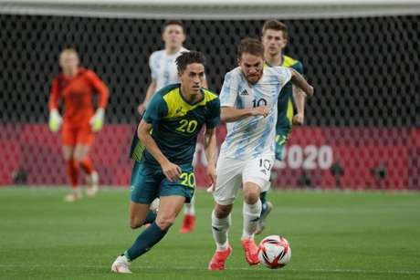 Argentina estreou mal na Olimpíada com derrota para os australianos (Créditos: Divulgação/AFA)