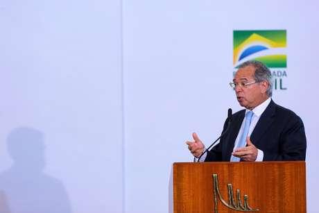 Paulo Guedes, Ministro da Economia, durante evento em Brasília