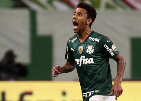 Marcos Rocha marcou o gol da vitória do Palmeiras sobre a Católica (Foto: Sebastiao Moreira / POOL / AFP)