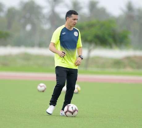 Gustavo Silva durante treinamento com a equipe (Foto: Arquivo pessoal)
