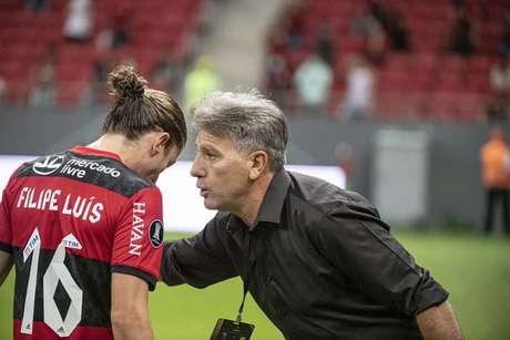 Renato Gaúcho durante goleada do Flamengo na Libertadores (Foto: Alexandre Vidal/Flamengo)