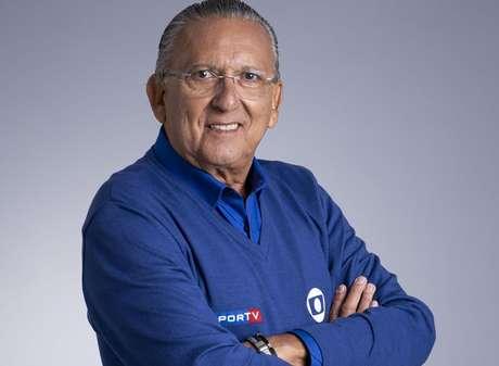 Galvão Bueno é a voz da Globo no Futebol