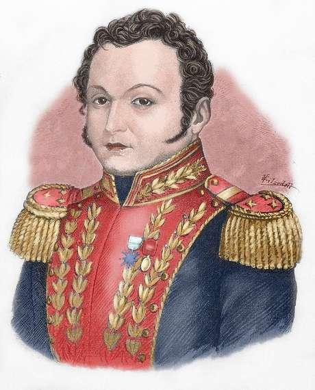 O general José Antonio Páez questionava, da Venezuela, o poder centralizado de Bogotá na época da Grande Colômbia