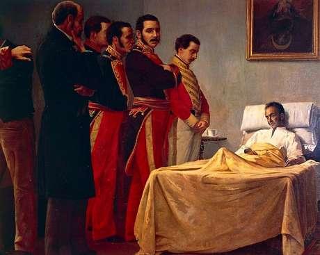 Bolívar morreu longe de seus familiares