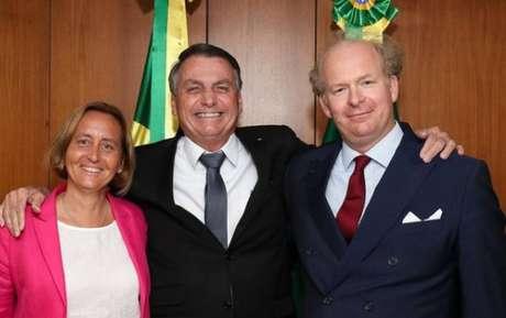 Bolsonaro recebeu parlamentar alemã neonazista no Palácio do Planalto