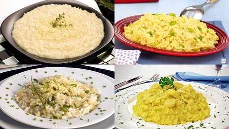 Receitas vegetarianas de risoto