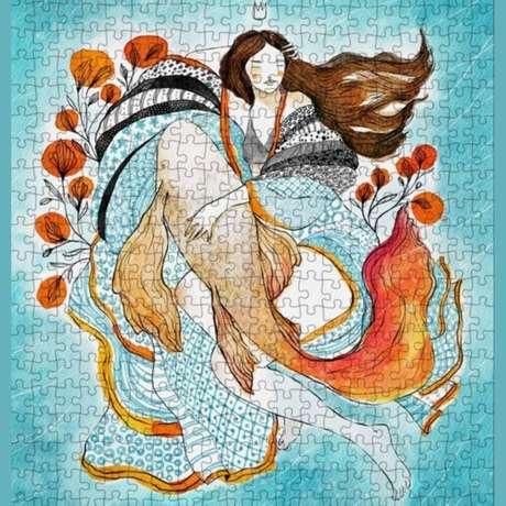 Quebra-cabeça 'Sonho de Mar', que faz parte do 'Projeto Mulheres'