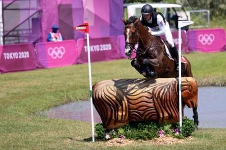 Cavalo Jet Set foi sacrificado após se lesionar durante os Jogos Olímpicos (Foto: BEHROUZ MEHRI/AFP)