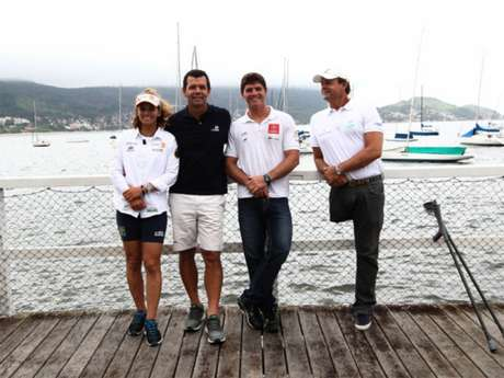 Martine, Torben, Marco e Lars: a família Grael e seus intermináveis representantes olímpicos (Foto: Paulo Sérgio/LANCEPRESS)