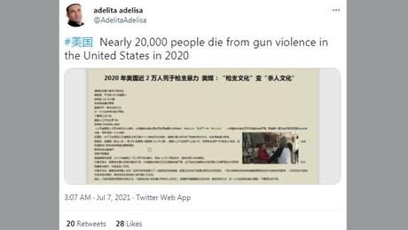 Esta conta, que cita mortes violentas nos EUA, foi suspensa pelo Twitter por violar suas regras