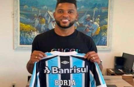Borja marcou o seu primeiro gol pelo Grêmio (Reprodução / Twitter)
