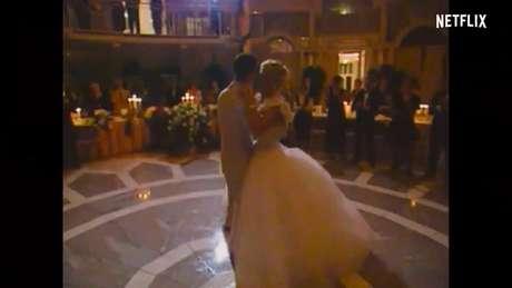 Casamento de Michael e Corinna também aparece no trailer
