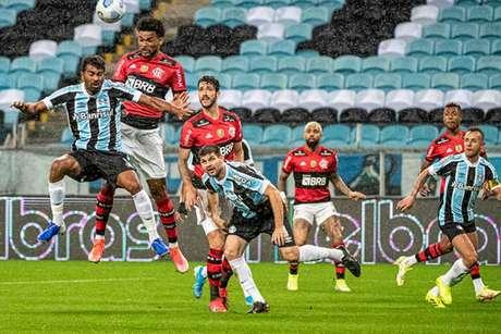Bruno Viana abriu o placar para o Flamengo (Foto: Alexandre Vidal / Flamengo)