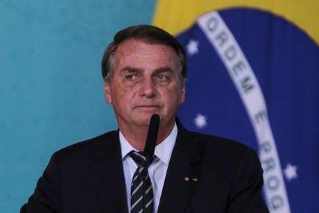 Jair Bolsonaro durante evento em Brasília