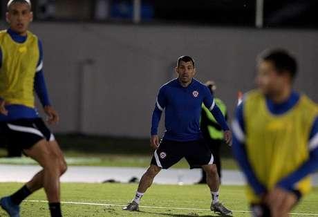 Gary Medel em treino pela seleção do Chile Reprodução Instagram @gary_medel17.jpeg
