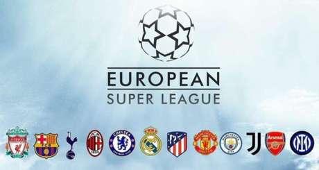 Os 12 clubes criadores da Superliga, cuja possível realização é criticada pela Uefa (Foto: Reprodução)