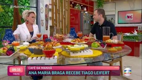 Tiago Leifert tomou café da manhã com Ana Maria Braga