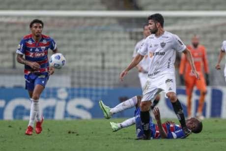 """Cuca elogiou a """"correria"""" do Galo em campo e exaltou a vitória sobre o Fortaleza-(PedroSouza/Atlético-MG)"""