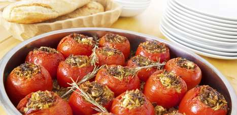 Tomates assados com mussarela