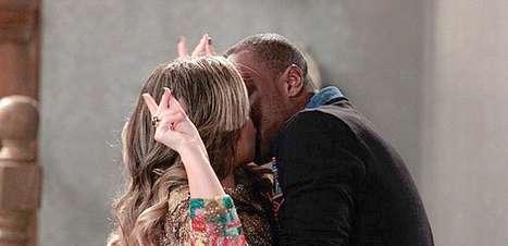 Thiaguinho grava cena de beijo com Fernanda Souza em 'Malhação'