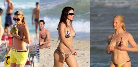 Em forma, famosas quarentonas chamam atenção nas praias