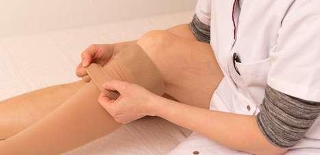 Meias de compressão reduzem inchaço e varizes das pernas