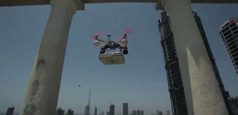 Restaurante usa drone para entregar pizza na Índia