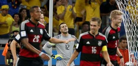 Veja fotos de Brasil x Alemanha