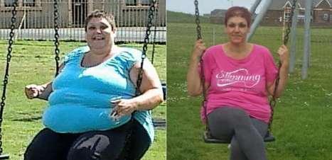 Mulher perde 89kg depois de ficar presa em balanço