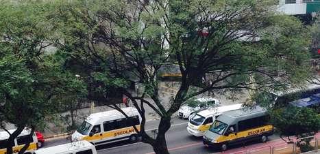 SP: condutores de vans escolares protestam contra cadeirinha