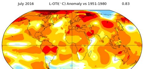 Julho foi o mês mais quente já registrado no mundo, diz Nasa