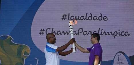 Revezamento da tocha paralímpica chega nesta terça ao Rio