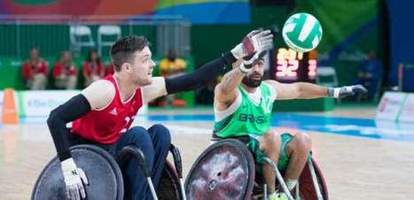 No rugby em cadeira de rodas, Brasil perde da Grã-Bretanha