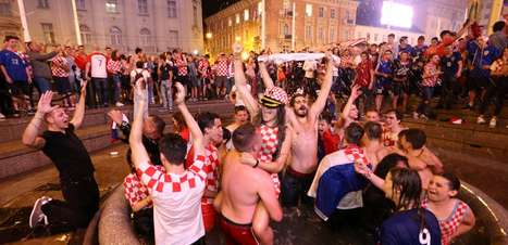 Torcida da Croácia comemora ida à final da Copa do Mundo