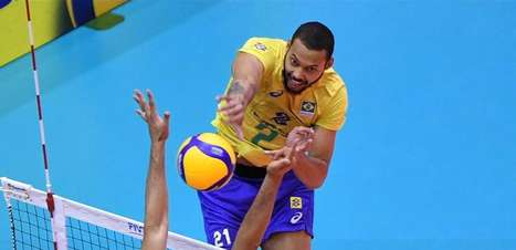Brasil atropela os EUA na Copa do Mundo de vôlei masculino