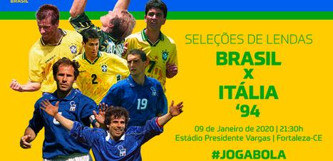 CBF anuncia jogo festivo entre as seleções de Brasil e Itália de 1994