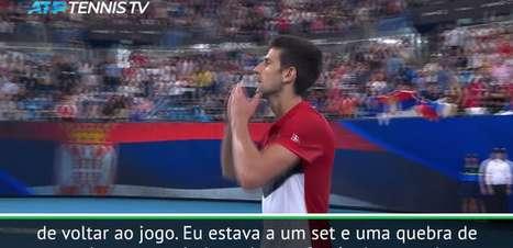 """TÊNIS: ATP Cup: Djokovic: """"Partida incrível! Qualquer um poderia vencer até o último momento"""""""