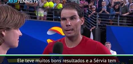 """TÊNIS: ATP Cup: Nadal: """"Espero estar preparado para a batalha contra Djokovic na final"""""""