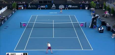 TÊNIS: WTA Adelaide: Barty derrota Vondrousova e vai à semifinal