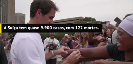 TÊNIS: ATP: Federer doa 1 milhão de francos suíços a famílias carentes
