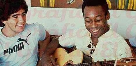 Relação de Maradona com Pelé terminou como começou: com admiração
