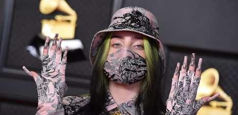 Grammy 2021: caveira, máscara e volume marcam looks do prêmio