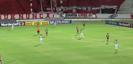 COPA DO NORDESTE: Gols de Santa Cruz 0 x 2 CSA