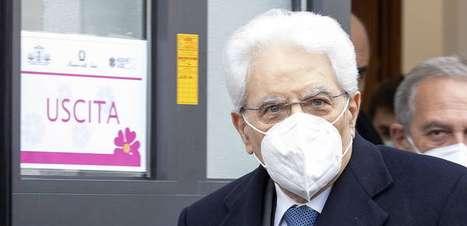 Presidente da Itália toma 2ª dose de vacina anti-Covid