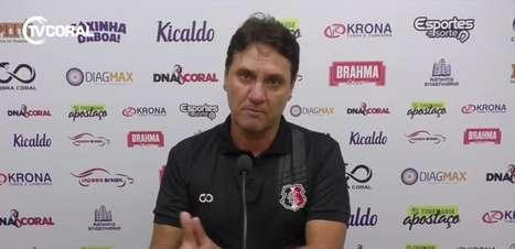"""SANTA CRUZ: João Brigatti reitera dificuldades físicas da equipe no começo da temporada: """"Falar sobre isso é chover no molhado"""""""